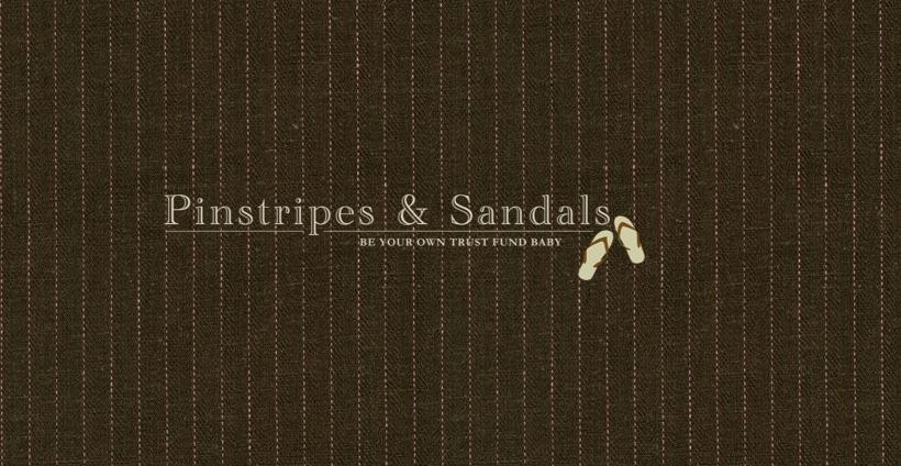 Pinstripes & Sandals